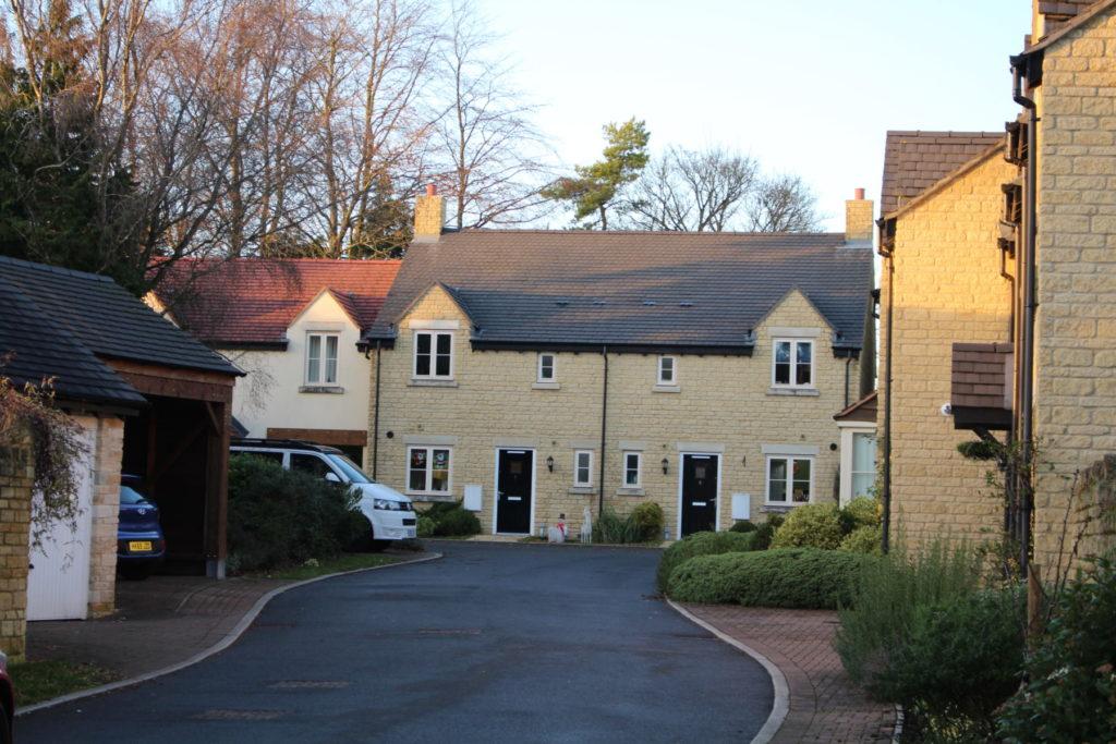 Recent housing development in the parish