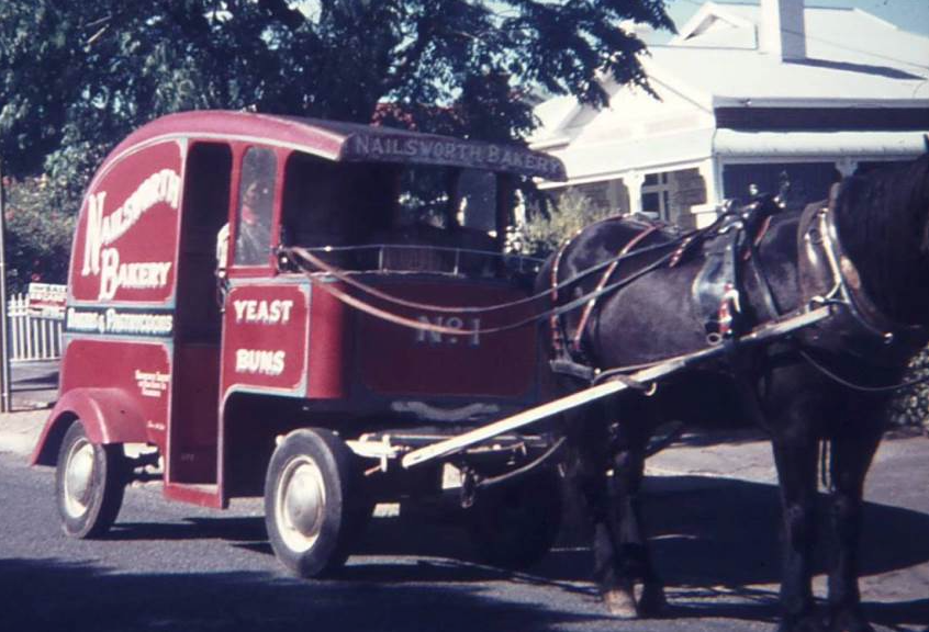 horse and cart bakery delivery vehicle